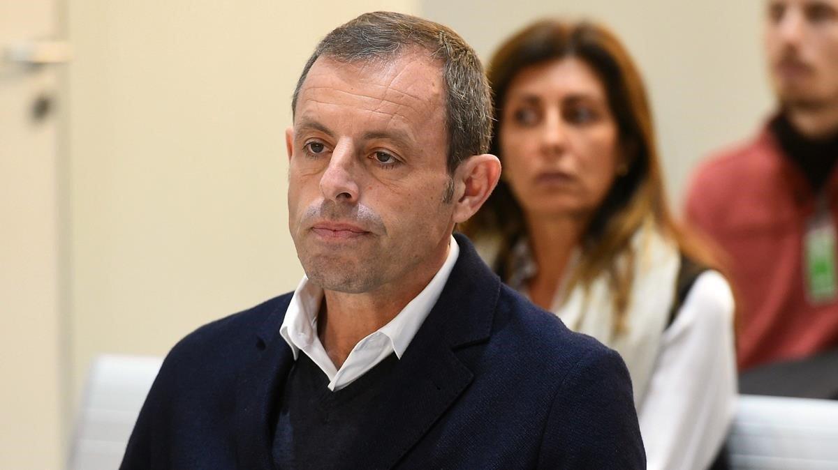Sandro Rosell en el banquillo de los acusados.