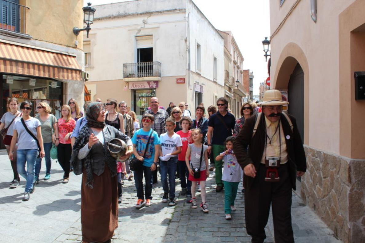 Imatge de la rut turística a Santa Coloma.
