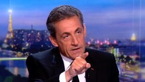 Sarkozy durante la entrevista que concedió al canal TF1.