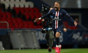 Neymar, el miércoles en el Parque de los Príncipes de París.