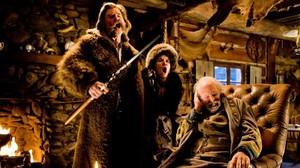 Kurt Russell,Jennifer Jason Leigh y Bruce Dern, en unaescena de lapelícula Los odiosos ocho, de Quentin Tarantino.
