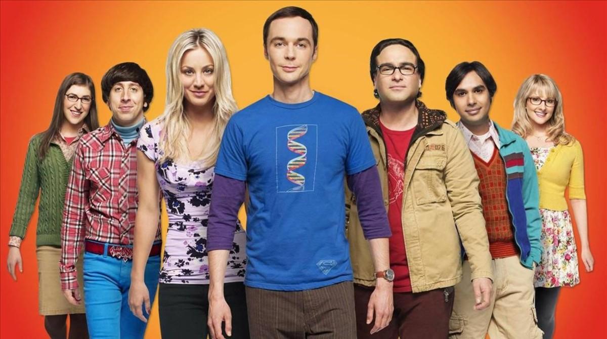 Imagen promocional de The Big Bang Theory, una delas series que demuestra la buena saludde la televisión generalista.