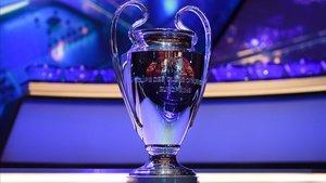 El trofeo de la Champions.