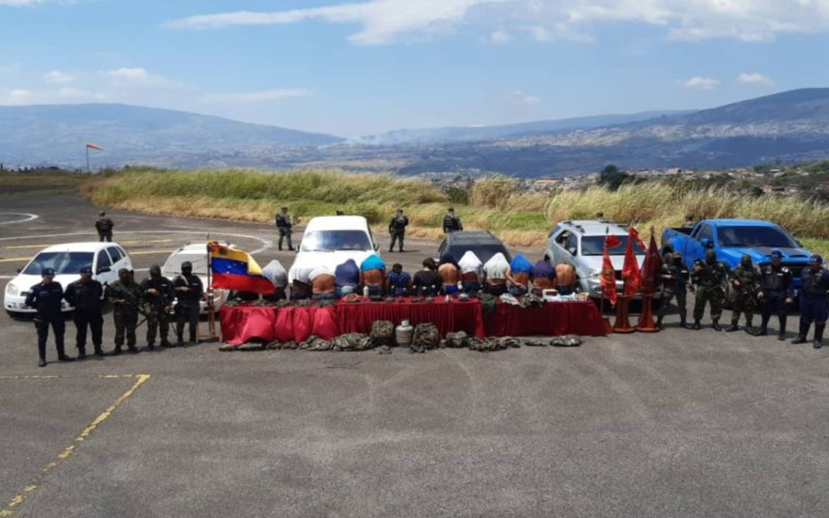 Detención de miembros de la banda criminal Los Rastrojos en Venezuela.