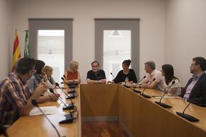 Visita de la alcaldesa de Esplugues a Parets.