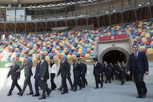 Visita del Rey Felipe, en marzo del 2015, al Arena Plaza de Tarragona.