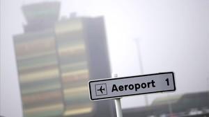 La torre de control del aeropuerto de Lleida-Alguaire.