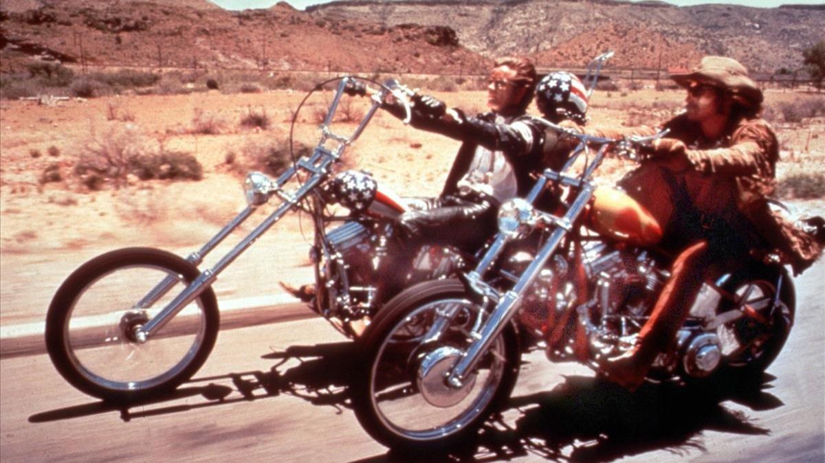 Dennis Hopper y Peter Fonda, en 'Easy rider'.