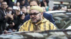 El Rey Mohamed VI de Marruecos en una visita oficial en Ámsterdam, en 2016.