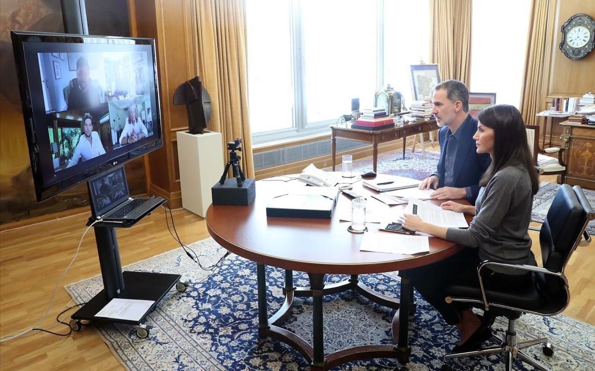 Felip i Letizia es reuneixen amb David Bisbal, José Mercé i Miguel Poveda