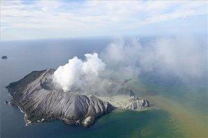 Erupción del volcánWhakaari.