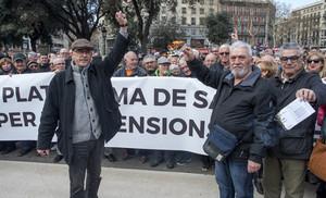 Manifestación de jubilados en Barcelona.