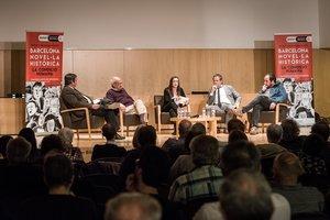 Imagen de una de las charlas de Barcelona: Novel.la Històrica del 2017.