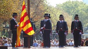 Acto institucional de la Diada de Catalunya en el parque de la Ciutadella de Barcelona, el 11 de septiembre del 2006.
