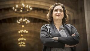 Ada Colau, en el ayuntamiento.