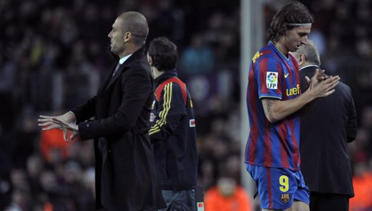 Zlatan Ibrahimovic y Pep Guardiola.