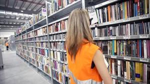 Almacén logístico de libros de Amazon en San Fernando de Henares.