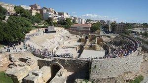 El anfiteatro romano de Tarragona en el 2015.