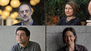 Antonio Orejudo, Clara Usón, Jordi Nopca y Santiago Lorenzo.