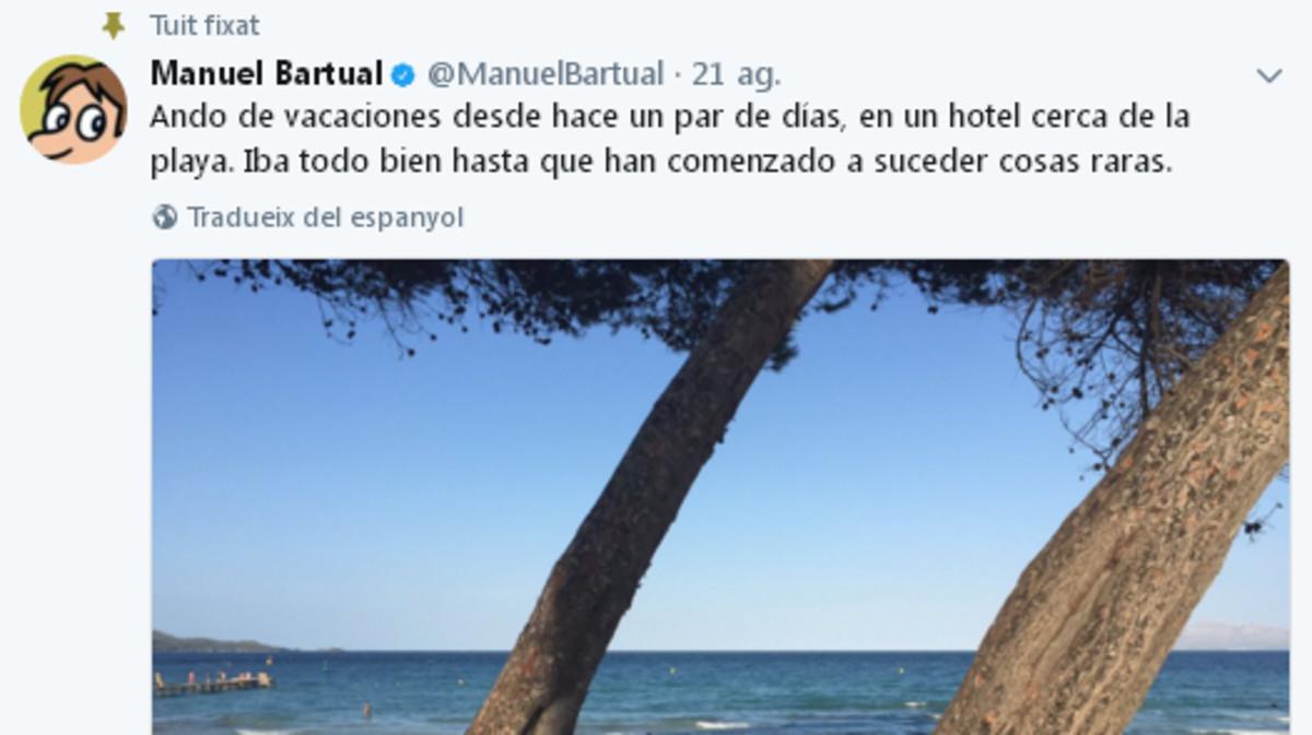 Así empieza el relato en Twitter de manuel Bartual.