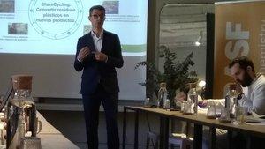 El director general de Basf en España, Carles Navarro, en la presentación de resultados del pasado año.