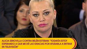 Belén Esteban contesta a Alicia Senovilla: «Entenc que no et va bé, però deixa de parlar de mi»