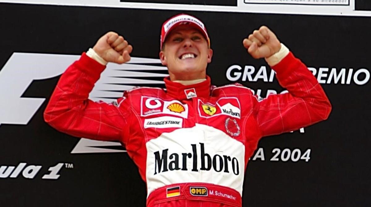 El campeonísimo alemán Michael Schumacher en sus tiempos en Ferrari.