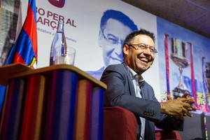 El candidato a la presidencia azulgrana Josep Maria Bartomeu, en un acto electoral, este lunes.