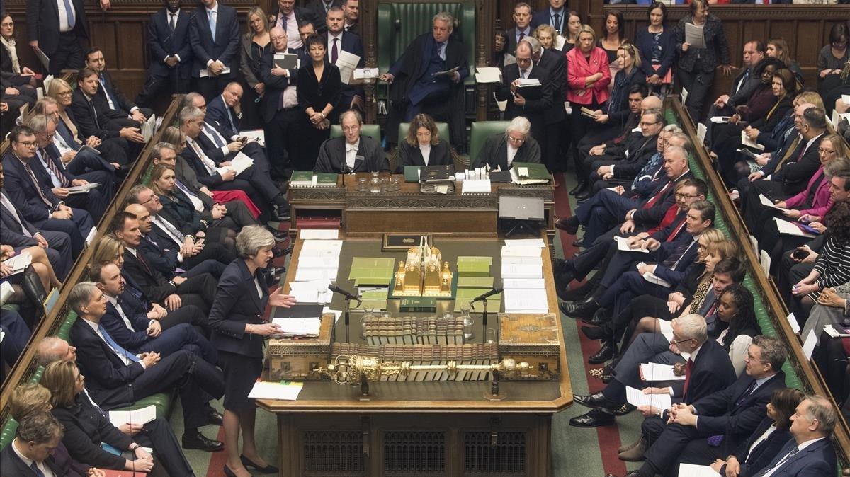 El Parlamento británico, el pasado 9 de enero