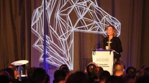 La consellera de Empresa i Coneixement, Àngels Chacón, en el evento The Hub Event 2018.