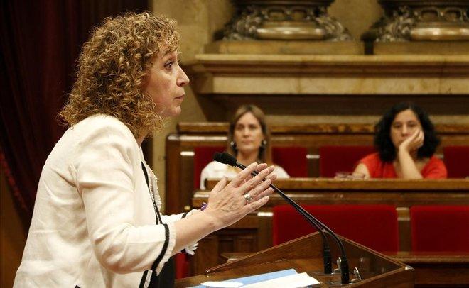 La consellera de Justícia, Ester Capella, en el Parlament.