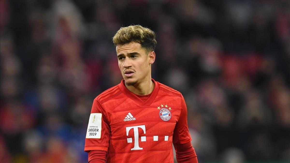Coutinho, en un partido con el Bayern de Múnich.