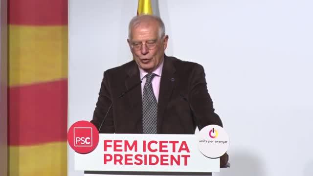 Declaraciones del exministro socialista Josep Borrell, en el acto de LHospitalet de LLobregat.