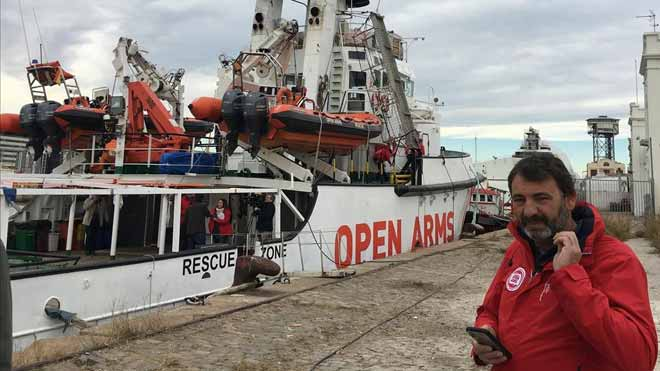 Declaraciones de Òscar Camps, de Open Arms, tras recibir el barco permiso para zarpar.