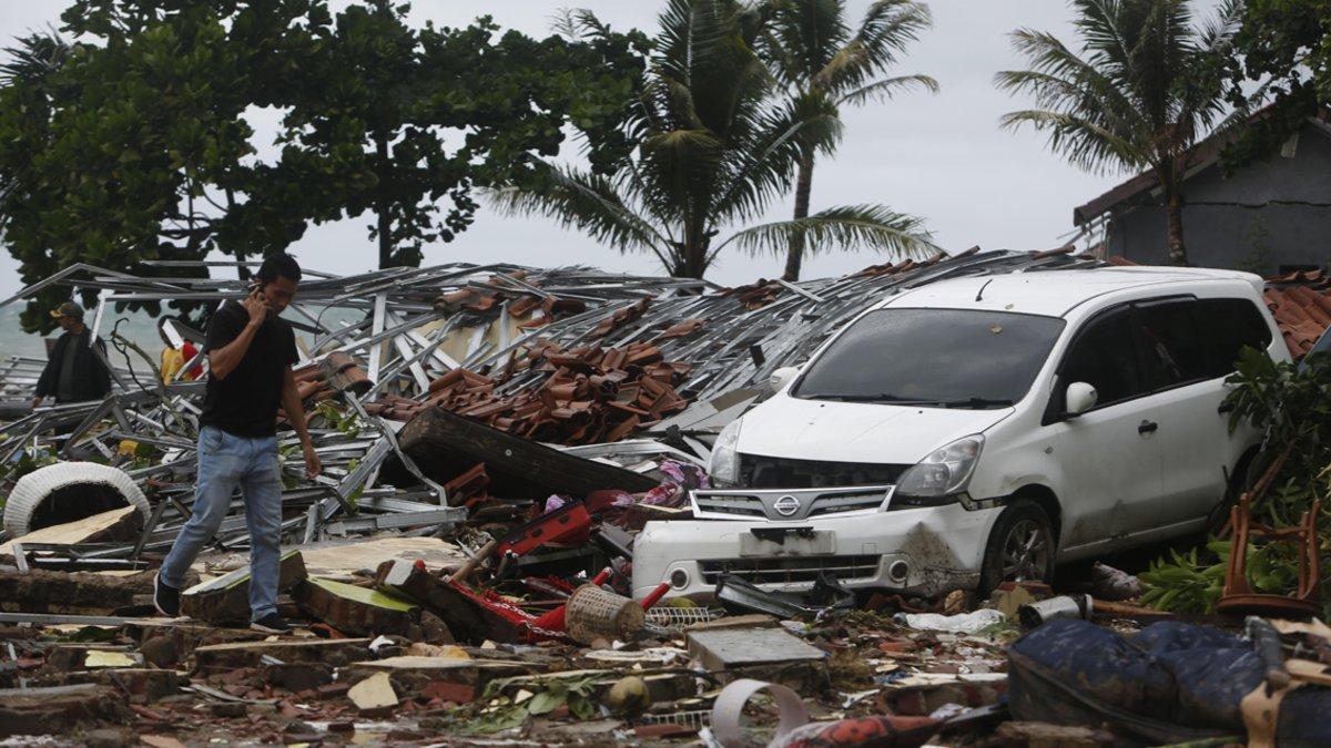 La zona devastada por el tsunami.
