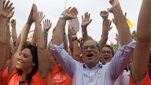 Quim Torra y Artur Mas en la Diada.