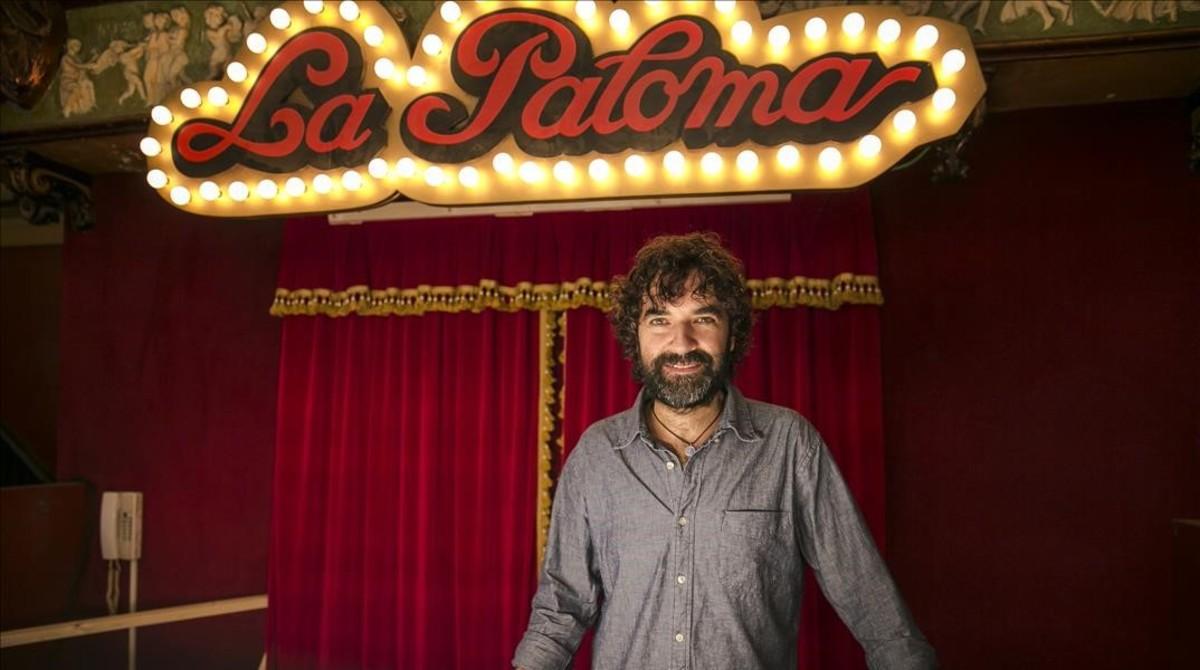 El director y guionista Mateo Gil, durante el rodaje en Barcelona de Las leyes de la termodinámica.