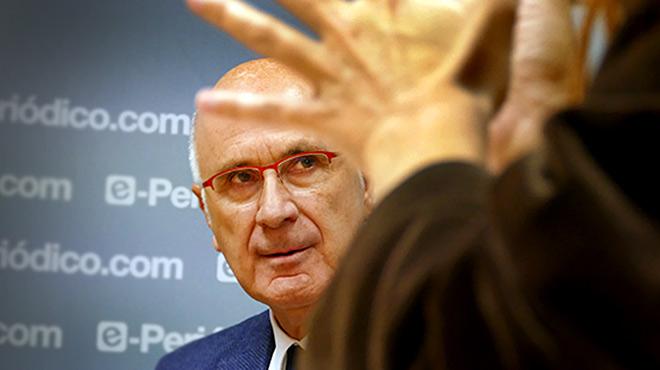 Josep Antoni DuranLleida, durante la entrevista en El Periódico.