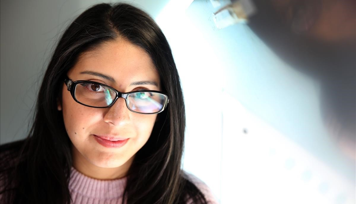 La escritora ecuatoriana Mónica Ojeda, en Barcelona.