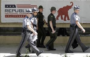 Fuertes medidas de seguridad para la convención republicana.