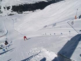 Instantánea de la Copa del Mundo de kilómetro lanzado en Andorra.