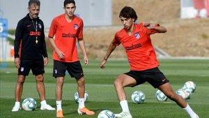Joao Felix, en un entrenamiento del Atlético de Madrid.