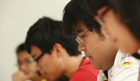 Jóvenes estudiantes chinos.