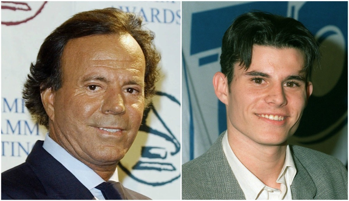Julio Iglesias (izquierda) y su presunto hijo, Javier (derecha).