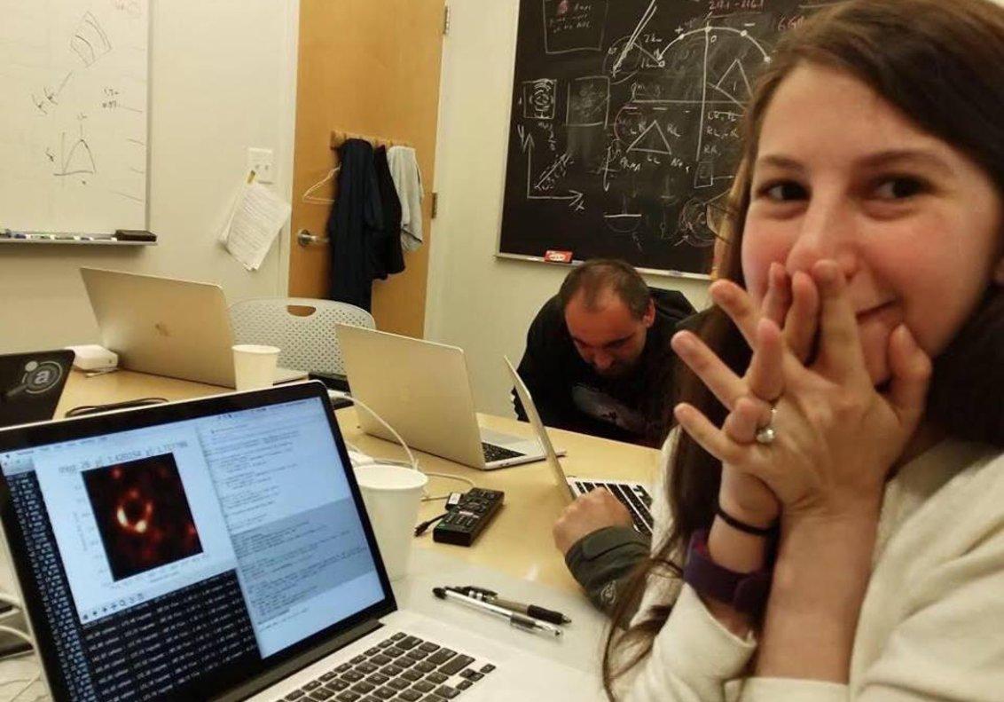 La científica Katie Bouman.