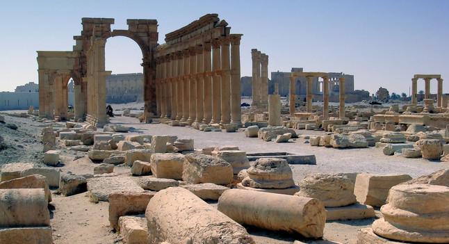 LArc de Triomf de Palmira, en una imatge del 2009.