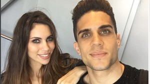 Melissa Jiménez y Marc Bartra.