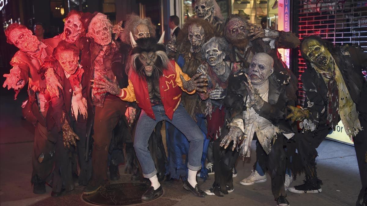 Heidi Klum, con sus monstruos.
