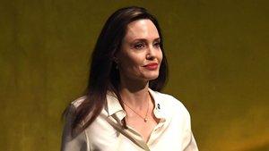 Angelina Jolie, en una asamblea de la ONU, el pasado marzo.