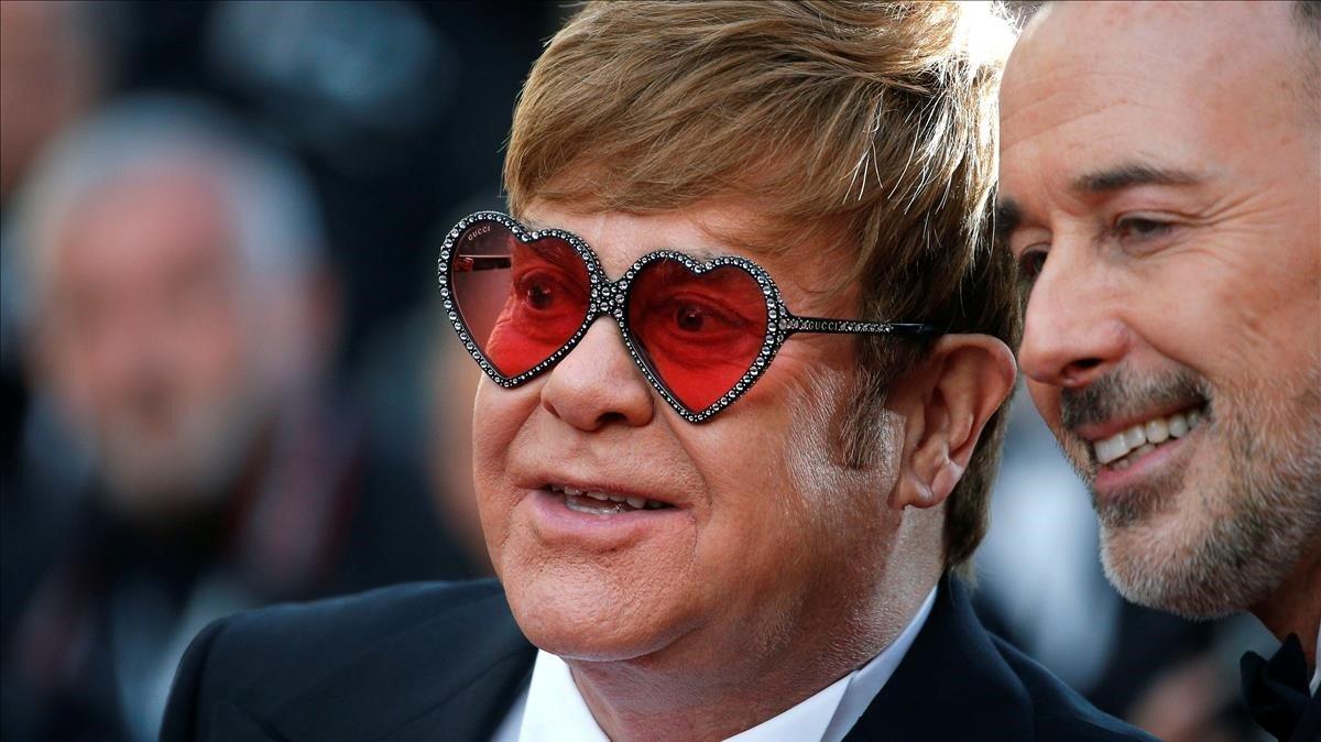 Elton John, el pasado 16 de mayo en Cannes.